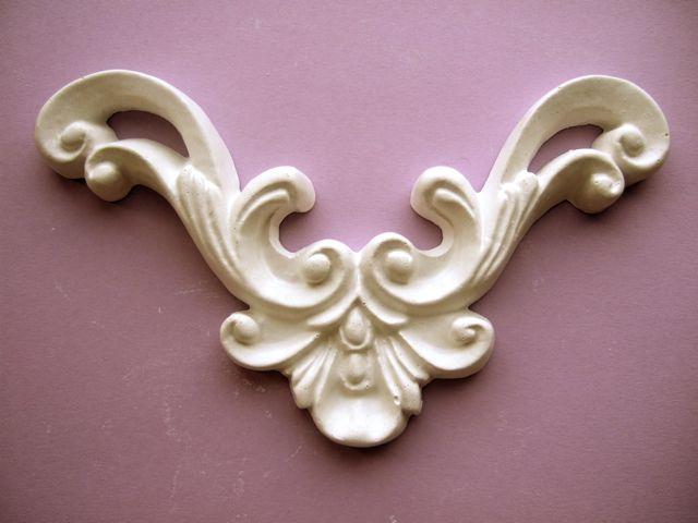 baldachin gips stuck ornament 10 mal 10 cm. Black Bedroom Furniture Sets. Home Design Ideas